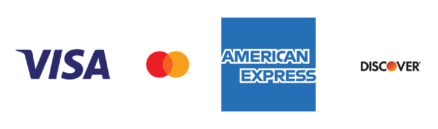 Payment Options: Visa, Mastercard, American Express, and Discover